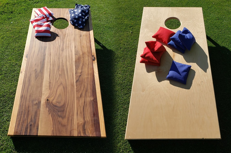 photo of the cornhole boards we sell