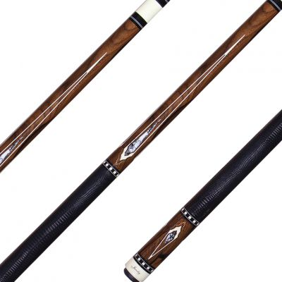 Jacoby Billiard Cue - Hb8 Buffalo Turquoise Inlays 18 9oz